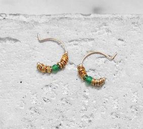 "Elise Tsikis: BOUCLES D\'OREILLES / EARRING ""DISME"" vert   Jewelry,Jewelry > Earrings -  Hiphunters Shop"