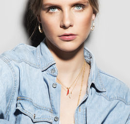 """Elise Tsikis: """"EGE"""" corne - COLLIER / NECKLACE 
