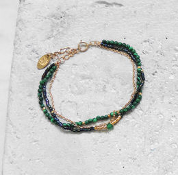"Elise Tsikis: BRACELET ""DUNE"" vert | Jewelry,Jewelry > Bracelets -  Hiphunters Shop"