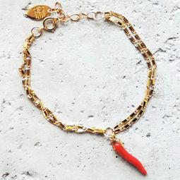 "Elise Tsikis: ""ELIAS"" piment - BRACELET | Jewelry,Jewelry > Bracelets -  Hiphunters Shop"