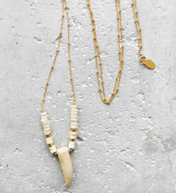 "Elise Tsikis: ""BELMA"" Corne - SAUTOIR / LONG NECKLACE 