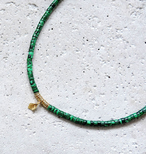 "Elise Tsikis: COLLIER / NECKLACE ""ELYES"" Vert - Hiphunters Shop"