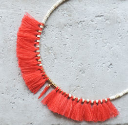 "Elise Tsikis: ""ELYES"" piment - COLLIER / NECKLACE 