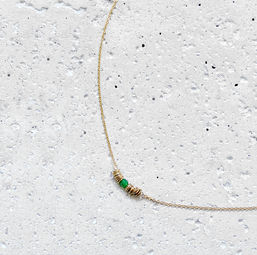 """Elise Tsikis: COLLIER / NECKLACE """"EGE"""" vert 