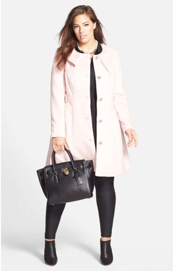 Pastel Plus Size Coat