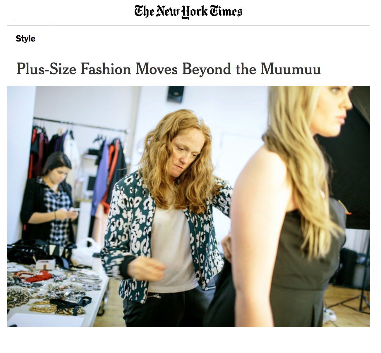nytimes plus size fashion article