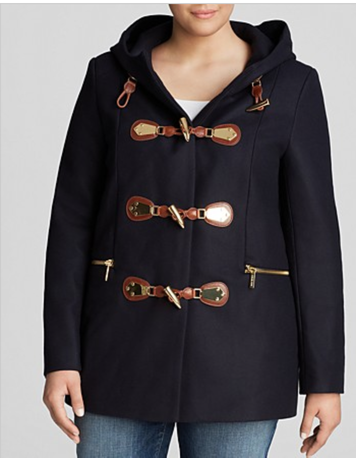 Plus Size Toggle Coat