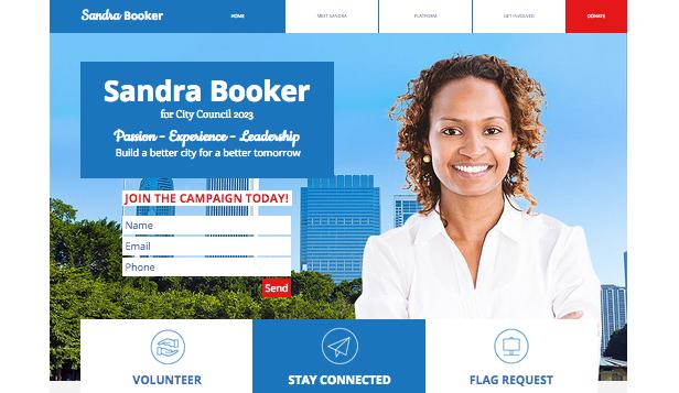 Sitio para campañas