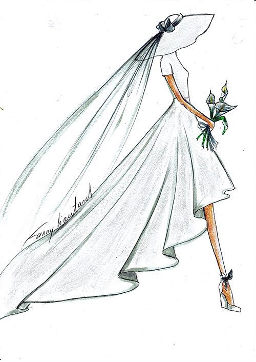 Robe De Mariage Dessin