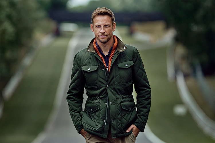 F1 CHAMPION JENSON BUTTON UNVEILED AS NEW FACE OF HACKETT LONDON