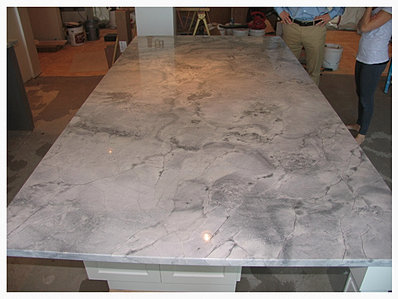 Super White Quartzite Island