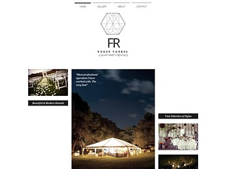 Luxury Party Rentals Template - A luxury business deserves a luxury site. The clean design and minimal layout make this the perfect place to showcase your wares and highlight your services. Start editing and get online today.