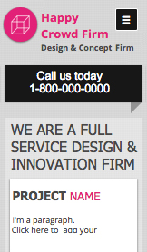 Creative Firm Landing Page