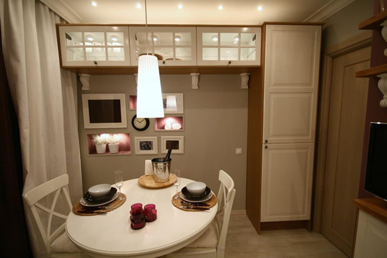 """Дизайн интерьера маленькой кухни-столовой """" современный диза."""