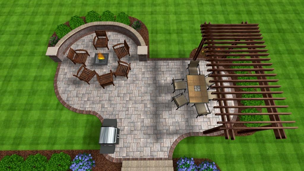 Backyard Retreats Patios And Ponds : Backyard Retreats Patios & Ponds  Patio fire pit seat wall pergola