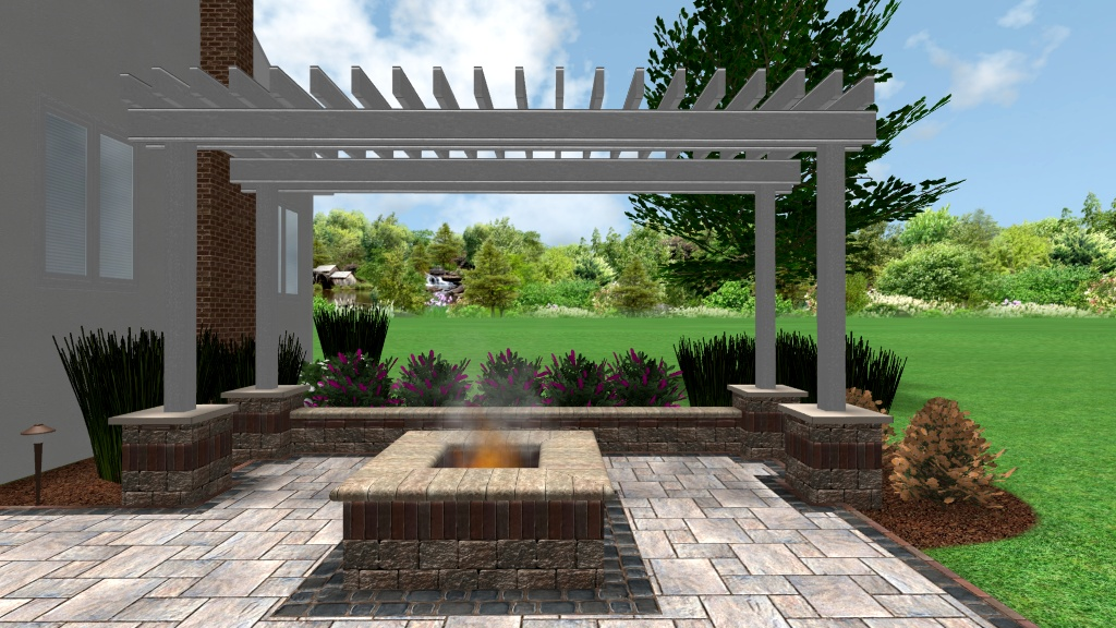 Backyard Retreats Patios & Ponds | Pergola fire pit