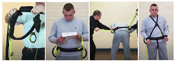 Body belt control and restraint system.J