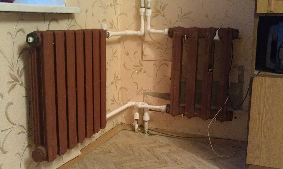 Установить чугунный радиатор своими руками