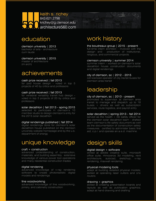 architect resume