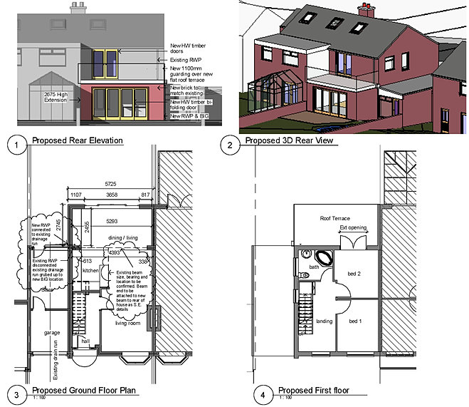 House Extension Plans Samples