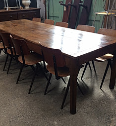 Sold items at the vitrine european vintage industrial for 10 seater farmhouse table