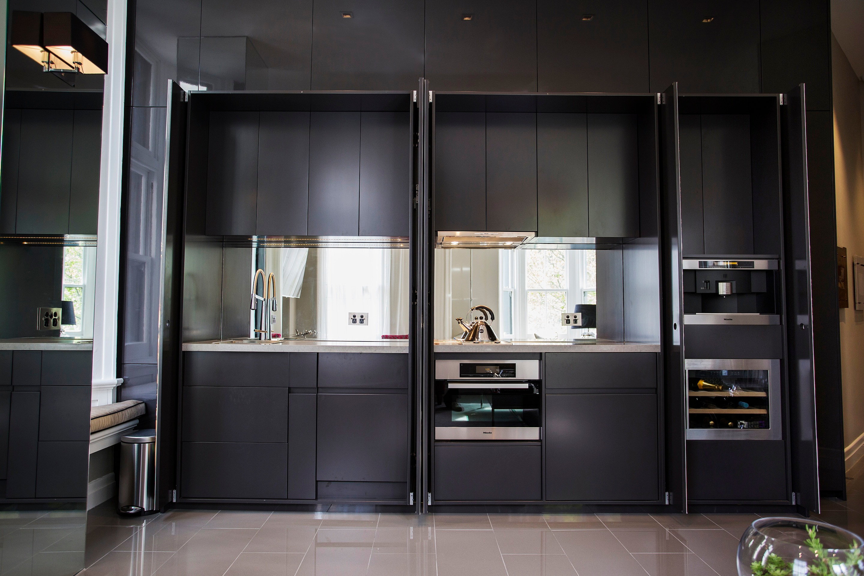 Printed glass hidden kitchenkitchen Designers melbourneAward winning ...