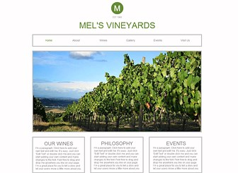 The Winery Template - A crisp and modern website template to represent your vineyard, winery, or farm. Add text and upload photos to showcase your cultivation process, ethos, and products. Start editing to grow your online presence!