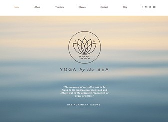Yoga Center Template - A modern and tranquil website template perfect for expressing the atmosphere of your yoga studio or holistic center. With an integrated booking app, it has never been easier for your clients to book a class at your studio. Simply update your class schedule to bring new and existing clients to your classes. Start editing now to get your studio online today!
