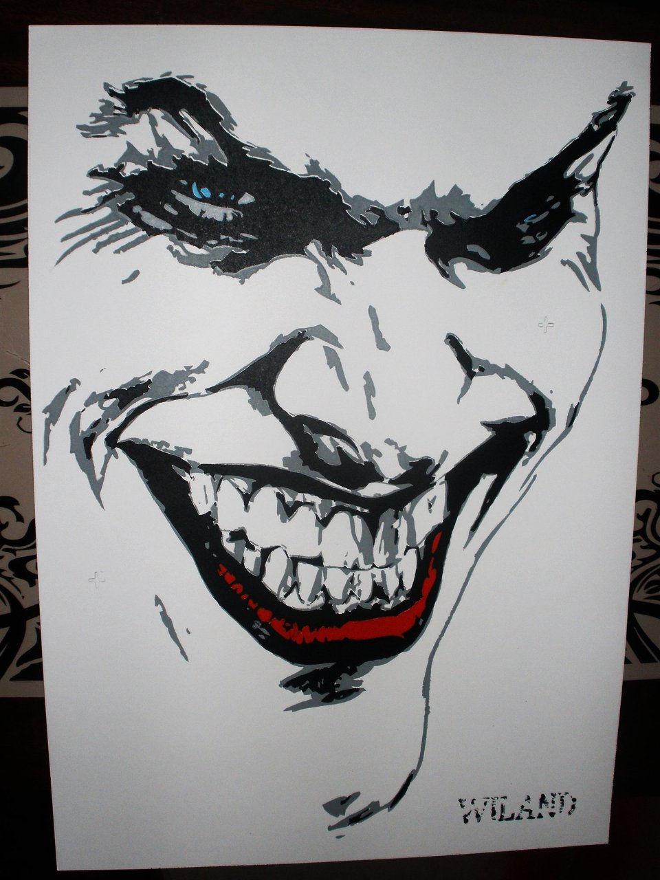 Bat Man Stensil Face Painting Images