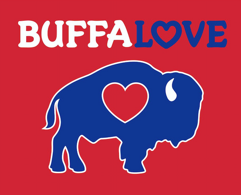 Buffalove Womens V Neck Red Buffaloveapparel