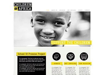 食料支援募金 Template - モノクロの写真と黄色いアクセントカラーが特徴のテンプレートです。サイトの主要コンテンツである「寄付」はもちろん、団体プロフィール、プロジェクト、参加者募集などその他の機能も充実しています。
