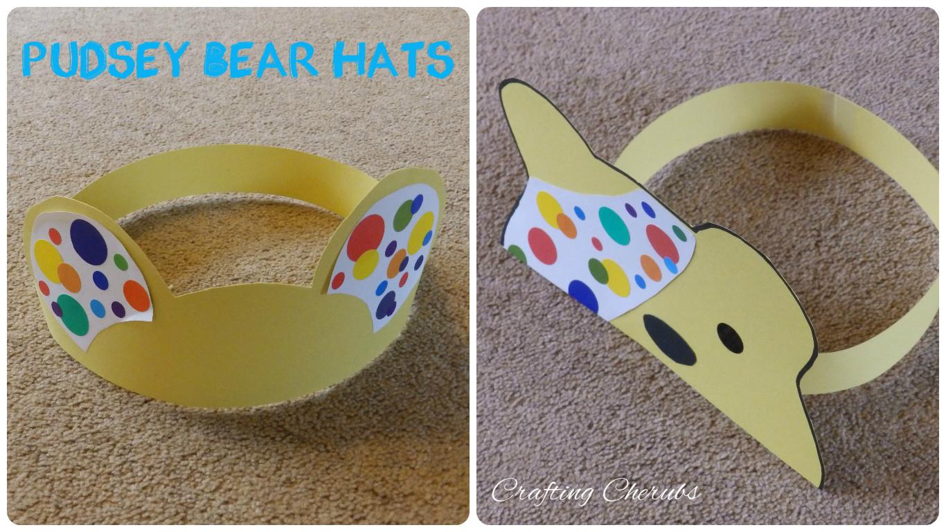 Pudsey Bear Hat Crafts | craftingcherubsblog