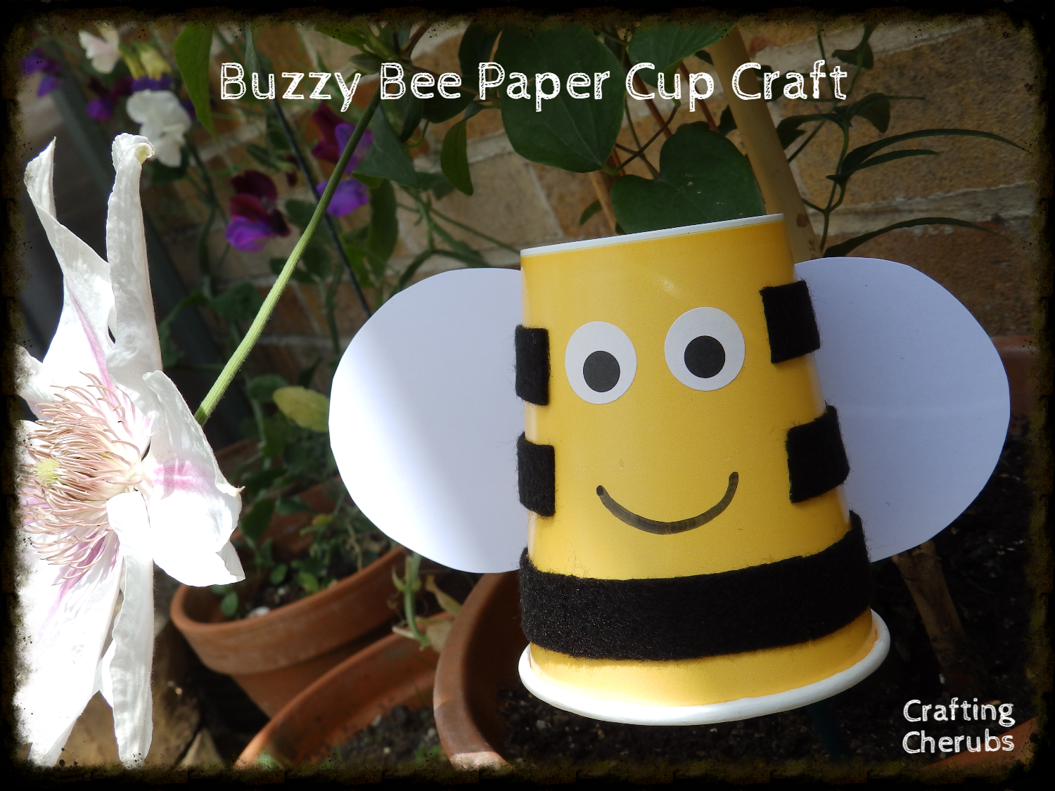 Buzzy bee paper cup craft craftingcherubsblog jeuxipadfo Image collections