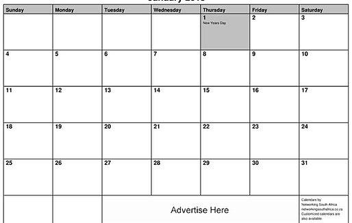 Monthly Calendar South Africa : Editable year planner sa holidays autos post