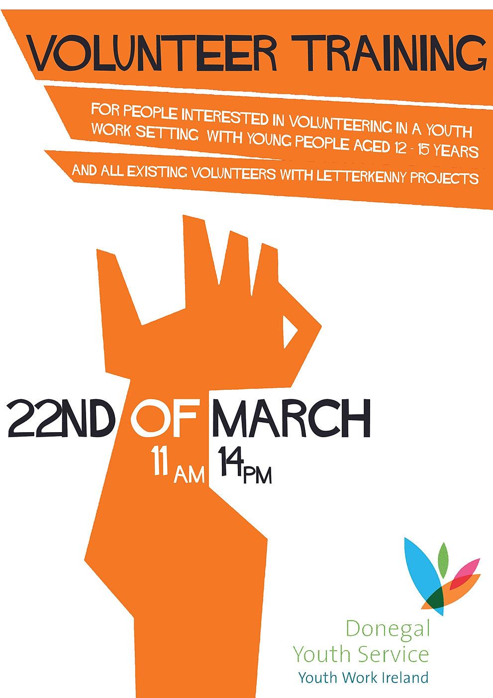 Poster design volunteer - Volunteertrainingfinal Jpg