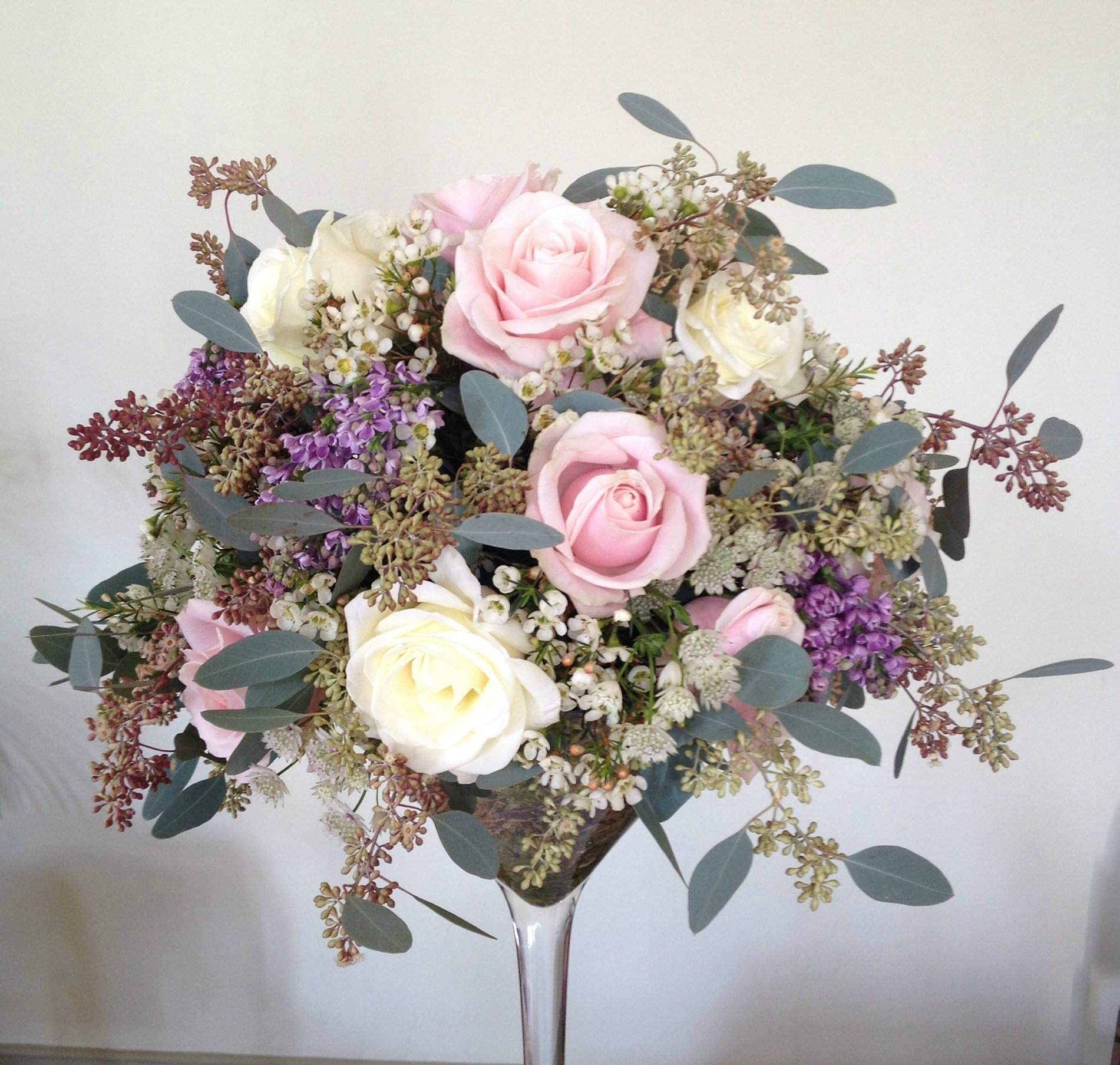 Larkspur And Lilac Wedding Flowers And Florist Based In Wells Somerset Martini Glass