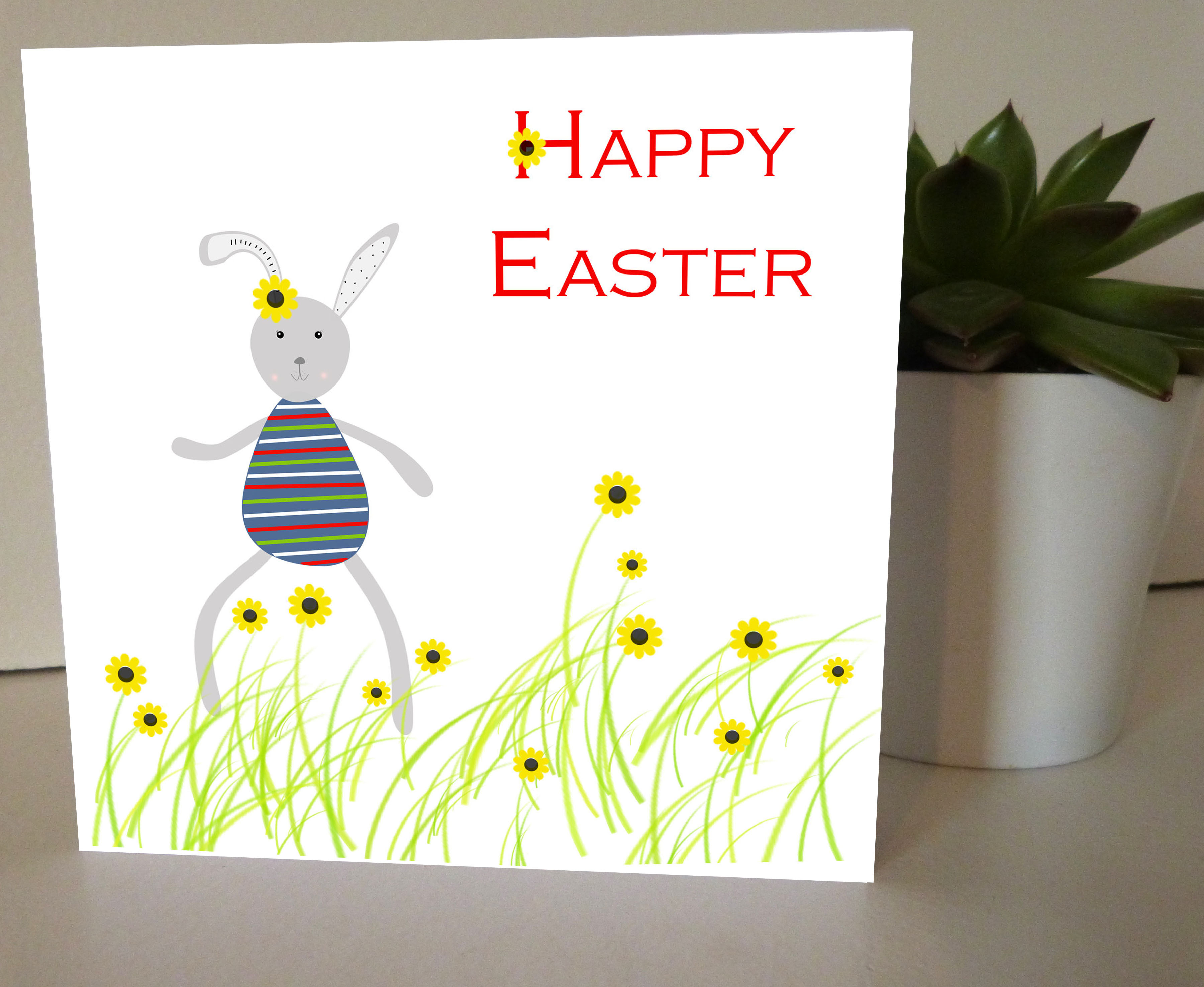 C for creations designer greeting cards and wall decors cards easter card easter bunny happy easter greeting card kristyandbryce Gallery