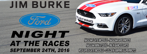 """all you need to know about """"jim burke ford night at the races"""" at"""