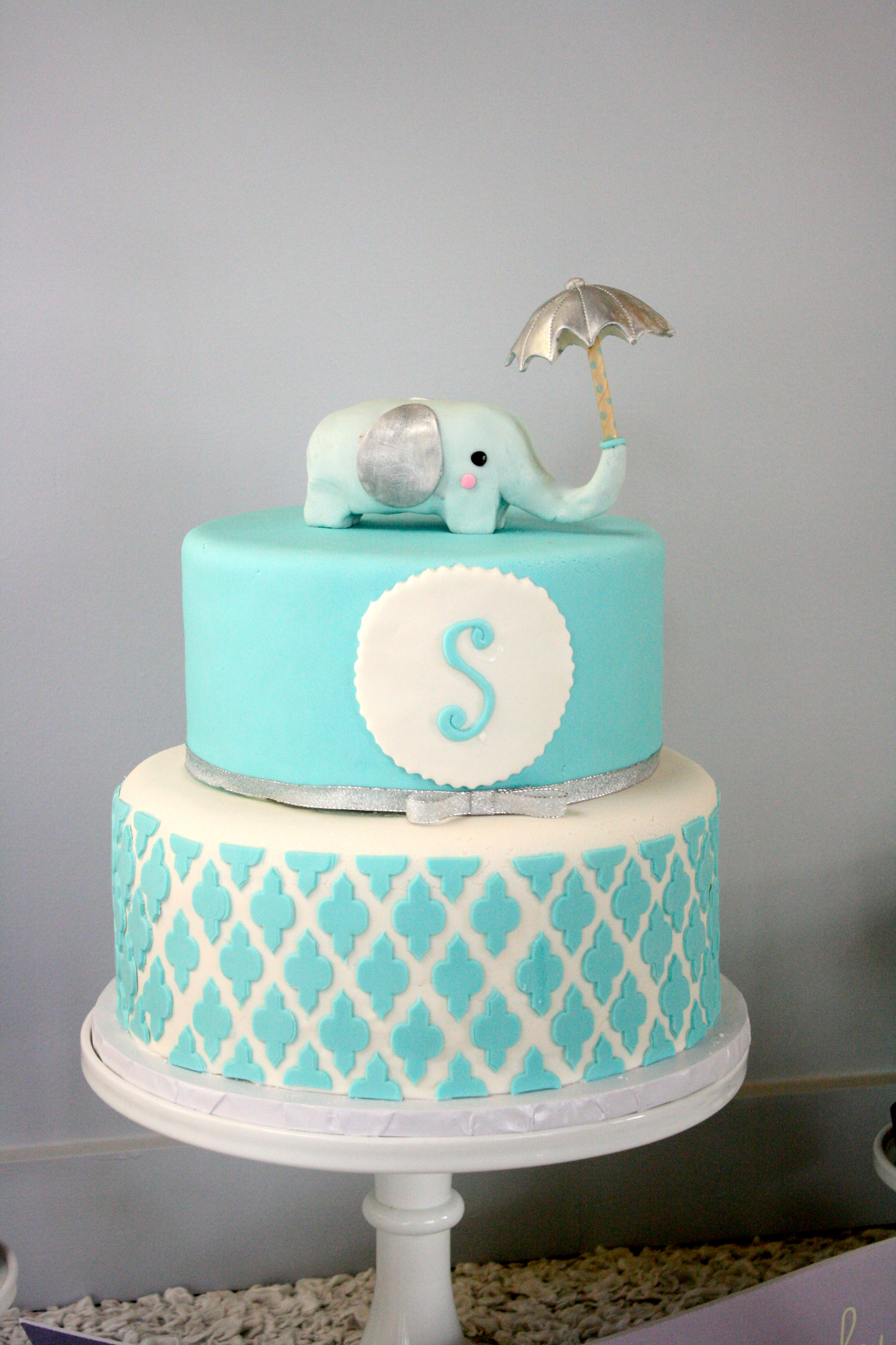 Blue Elephant Baby Shower Cake Baby Shower Ideas
