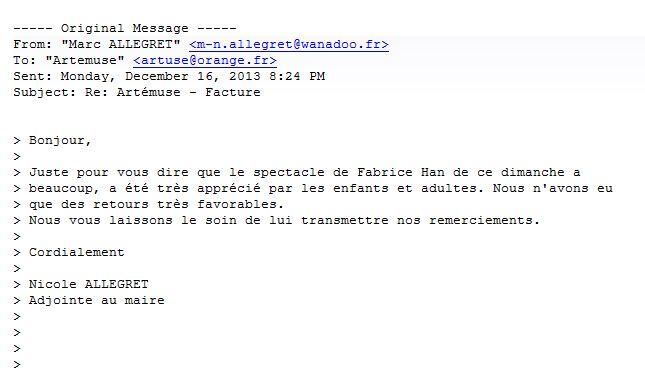 Fabrice Hàn artiste magicien professionnel Paris | Lettre de ...