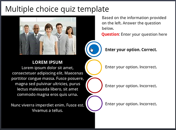 Freesl multiple choice clean for Template for multiple choice questions