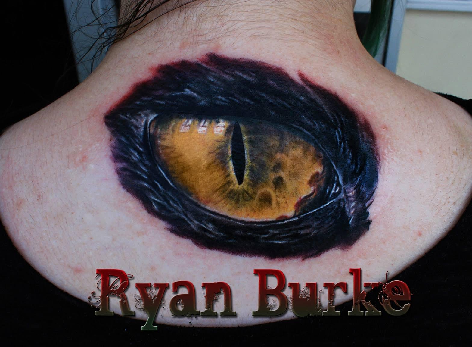 Eye Cat Tattoo