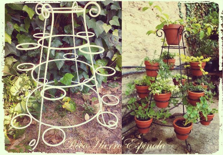Decohierroespinola codigo jardin 39 - Estantes para macetas ...