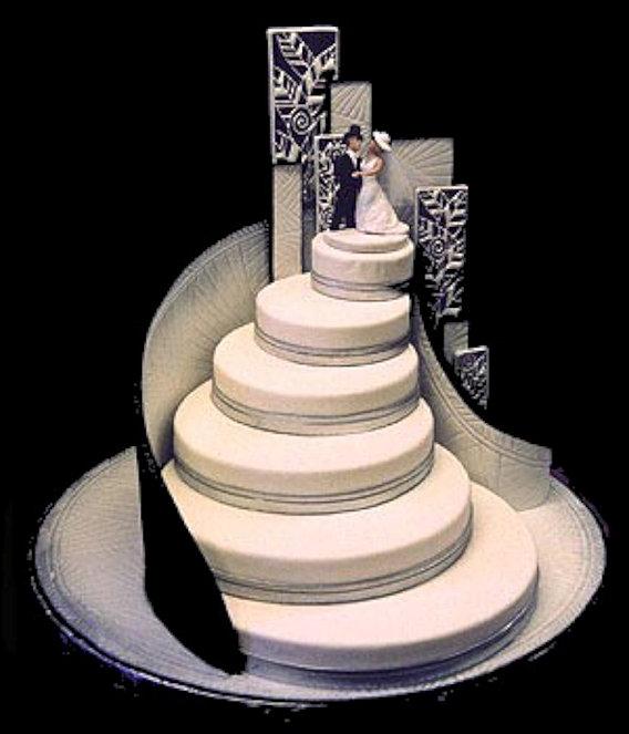 Beach Wedding Cake Stairway