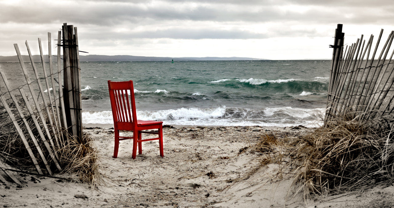 red chair at nobska