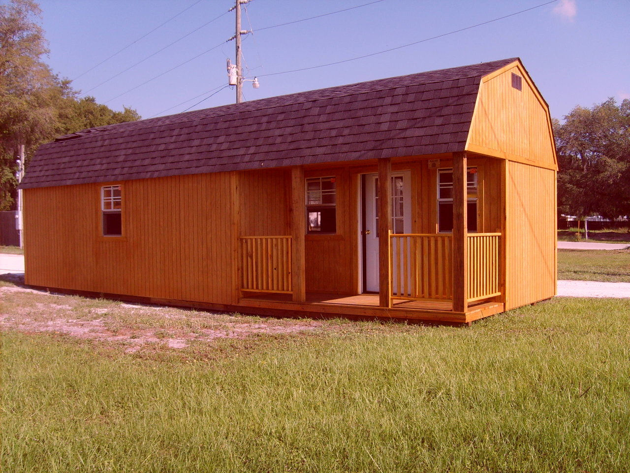 side  porch lofted cabin