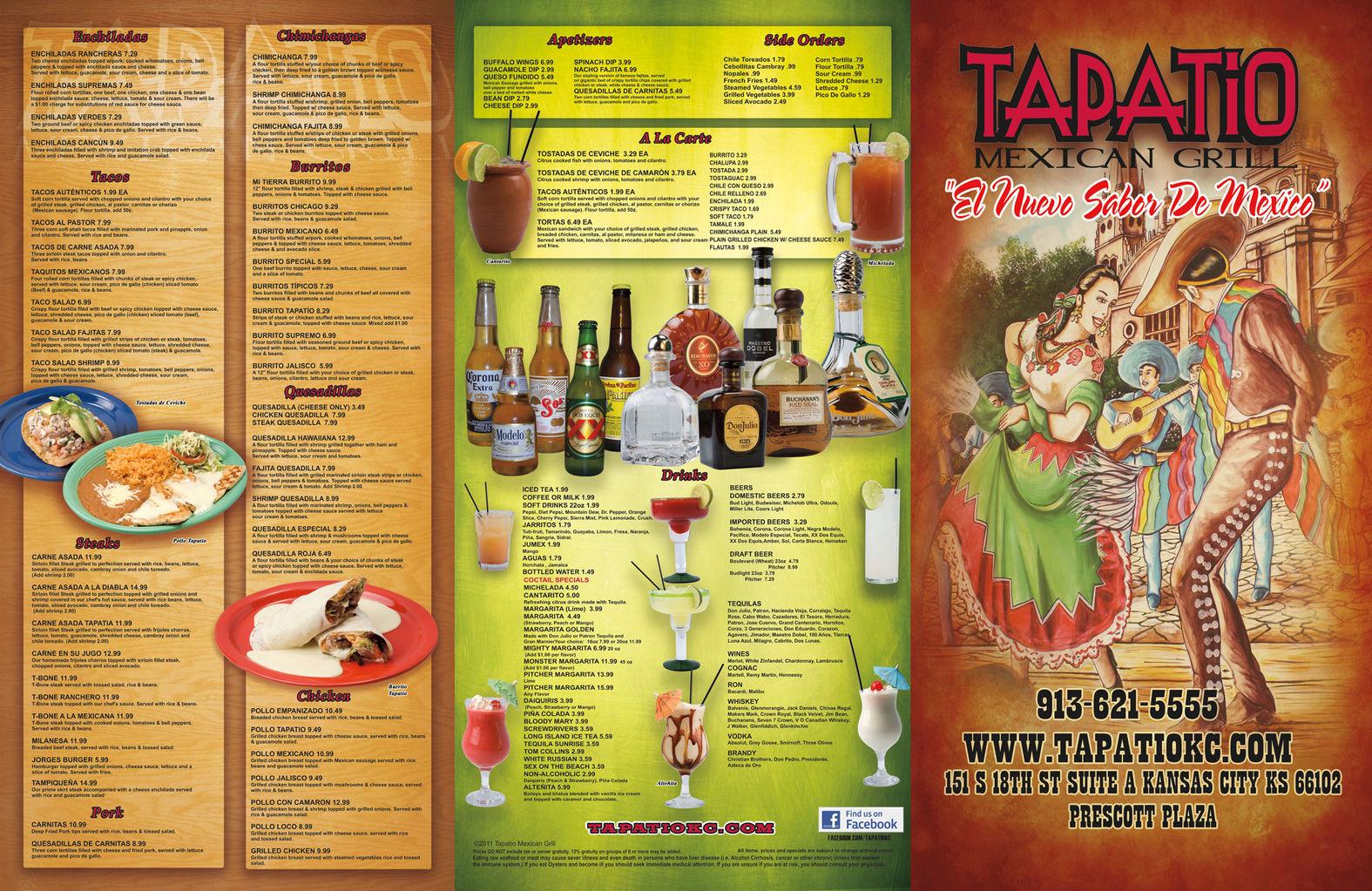 Permalink to Patio Restaurant Menu