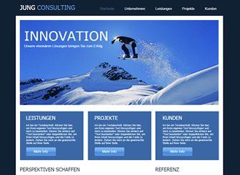 Der Berater Template - Bringen Sie Ihr Beratungsunternehmen mit dieser professionellen Website-Vorlage zum Erfolg. Texte hinzufügen, Bilder hochladen und das Design Ihren Vorstellungen entsprechend anpassen. Erstellen Sie jetzt Ihre Online-Präsenz!