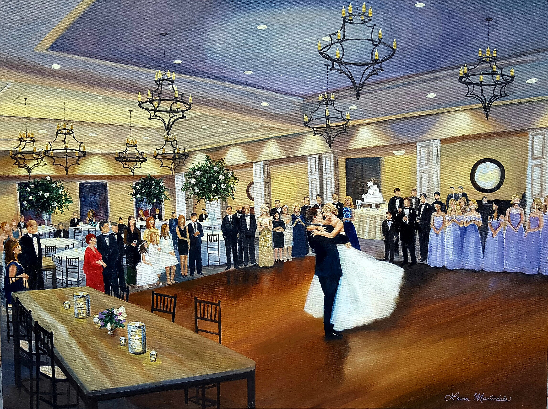 Live Wedding Painter | Daniel Island Country Club
