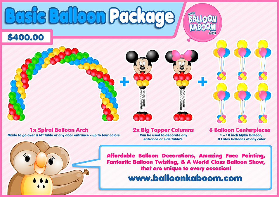 Balloon decoration packages prices for Balloon decoration packages